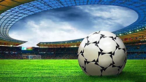 wffmx Classic Puzzle Adult Challenge Impossible-Puzzle De 500 Piezas-World Cup Football Stadium 3D Puzzle De Madera-Puzzle De Juguete Educativo para Niños-52x38cm