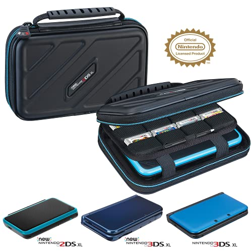Officially Licensed Hard Protective 3DS XL Carrying Case - Compatiable with Nintendo 3DS XL, 2DS XL, New 3DS, 3DSi, 3DSi XL - Includes Game Card Pouch