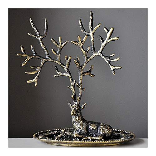 Estante de la joyería Exhibición de la joyería Organizador Rack - retro del árbol en forma de joyas Organizador soporte pendientes de la vendimia de mesa soporte for colgar collares aros de visualizac
