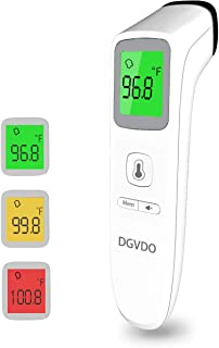 Forehead Thermometer for Adults, Touchless Infrared Digital Thermometer No Touch for Fever, Baby Kids Child with Batteries, Fever Alarm, 35 Groups Data Storage