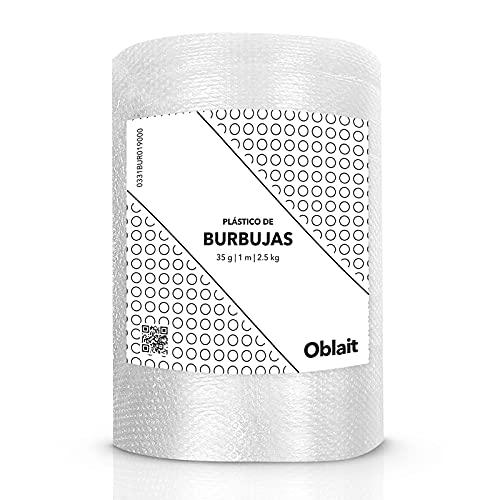 Rollo de plástico de burbujas de 1 metro de ancho y 100 metros de longitud. - Papel burbuja Ideal para embalaje, mudanzas, cajas.…