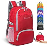 ZOMAKE 30L Ligera Mochila Plegable de Senderismo Excursión Deportes, Mochilas Pequeña Impermeable para Mujer Hombre Viaje(Rojo)