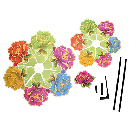XTYaa - Molinillo de viento de tres capas, diseño de flores, para decoración de jardín, para niños, juguetes, juegos, suministros para exteriores