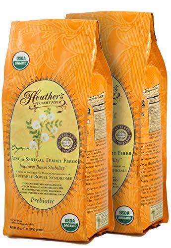 Heather's Tummy Fibers-Organic Acaia Fiber, 1lb (2 Pack)