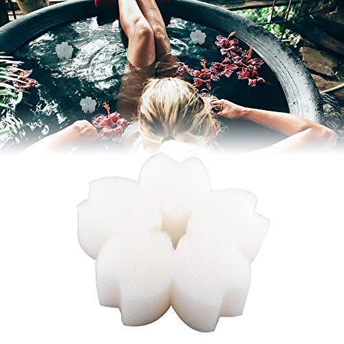 Abschaum Schwamm Ölabsorbierender, Schaum Blume Whirlpool Und Spa-Reiniger Badekurort Reiniger Entfernt Öle Und Fette (10 Stück)