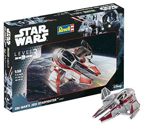 Revell Star Wars OBI Wan's Jedi Starfighter, Kit modele, Escala 1:58 (03607)
