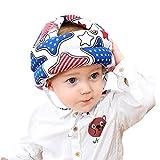 IPENNY Casque de Sécurité pour Bébé en Bas Age Casque de Sécurité pour Bébé Tête de Protection pour Chapeau de Bébé Casque de Sécurité Réglable pour Chapeau en Coton pour Enfants ,Bleu,53