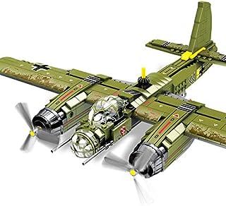 Army Toys - Iron Empire 559pcs Military Ju-88 Bombing Plane Building Block WW2 Model Toy Brick Building Army Airplane Set