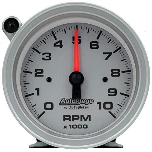 AUTO METER 233909 Auto Gage 3-3/4' Tachometer 0-10,000 RPM w/Silver Dial & Shift-Light