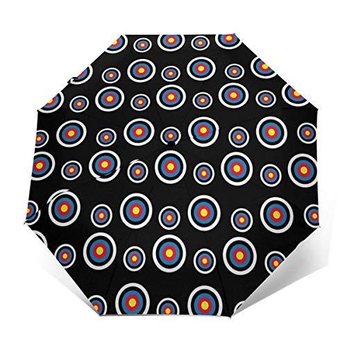 Reiseschirm für Sonne und Regen, leichter kompakter Sonnenschirm mit UV-Schutz für Männer und Frauen, mehrere Farben, Bogenschießen, Zielscheibe, Colorado, rund