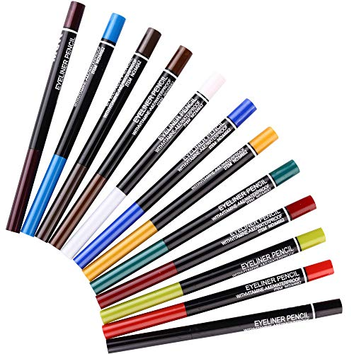 12 Kinds Of Color Eyeliner Pen, Eyebrow Pen,Eye Shadow Pencil, Lip Line Pen, Eyelid Pad, Pencil Makeup Set Tool (12PCS)