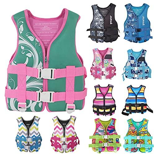 BBYU Sommer Schwimmweste Kinder Rettungsweste Atmungsaktives Licht Neopren Auftrieb für 20~50 kg Kinder