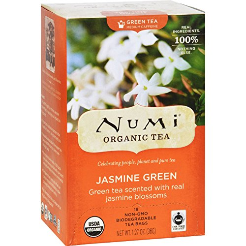 Pack of 6 x Numi Tea Jasmine Green Tea - Medium Caffeine - 18 Bags