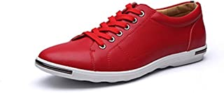 Fashion Shoes, Fashion Shoes Men Athletic Shoes for Leisure Fashion Sneaker Casual Sport Lace Up Microfiber Leather Round Toe Flat Heel Breathable Wear Resistant Classic Comfortable Shoes, Breathable