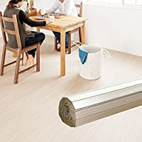 ウッドカーペット 4.5畳用 団地間4.5畳用 約243x245cm [アイボリー色] [PJ-40シリーズ] [4色展開] DIY フローリング 木目 簡単 敷くだけ シート セルフリフォーム 低ホルマリン [並行輸入品]
