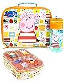 Peppa Pig lunch pranzo set (sacchetto di cibo, Bottiglia, contenitore di cibo) One Size
