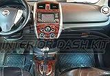 NISSA VESRA Interior de Madera del Burl Dash Juego de Acabados fijado para el Nissan Versa 2016 Nota 2015 2017 2018
