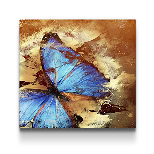 STARTONIGHT Canvas Wall Art Butterfly Abstract Turquoise, Butterfly Framed Wall Art 32