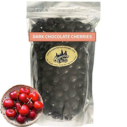 Dark Chocolate Covered Cherries – Fruity Cherries covered in 64% Rich Dark Chocolate. (2.5 pound bag)