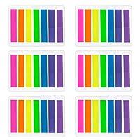 Das Paket beinhaltet: 6 Sätze von Haftnotizen; Jeder Satz: 140 Blätter, 7 Farben, jede Farbe 20 Blätter; Insgesamt 840 Blätter in 6 Sets 7 Lebendige Farben: rosafarbenes Rot, orange, gelb, grün, blau, hellpurpurn und purpurrot; Verschiedene Farbstrei...