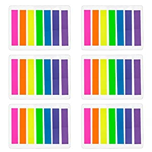840 Piezas Índices Pequeños Notas Adhesivas Etiquetas Grabable Marcador de Página Tiras de Resaltador de Texto, 8 x 45…