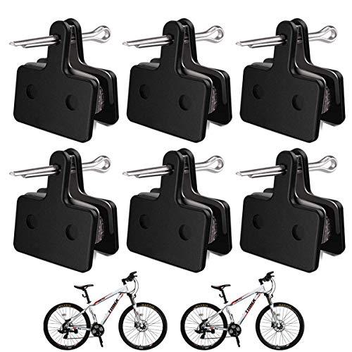 Guador 6 Pares Pastillas de Freno para Bicicleta Compuesto Orgánico Semi-metálico con...