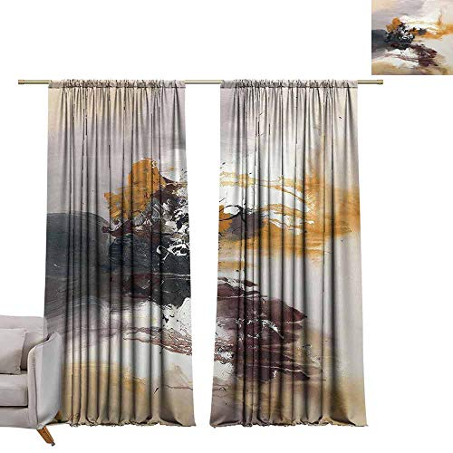 GUUVOR Blackout Curtain Rio 'Abstract 2 Panel Sets W52 x L84 Inch