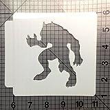 Halloween Werewolf Stencil 101 (4 Inches)