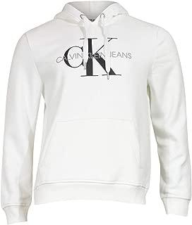 Calvin Klein Mens 41QY904 Fleece Hoodie Logo Pop Over Sweatshirt Sweatshirt