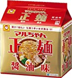 マルちゃん 正麺 醤油味 5食入り 105g×5 まとめ買い(×6)
