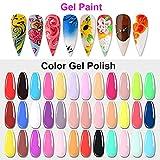 Zoom IMG-2 36 colori gel colorati unghie