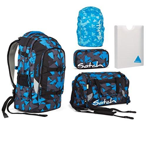 Satch Pack Schulrucksack Set 5tlg.( Schlamperbox, Sporttasche, Regenhülle, Stylerbox)