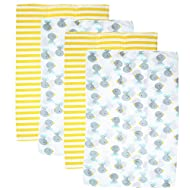 Gerber Prefold Gauze Cloth Diapers, 4 Count, One Size (Grey Duck)