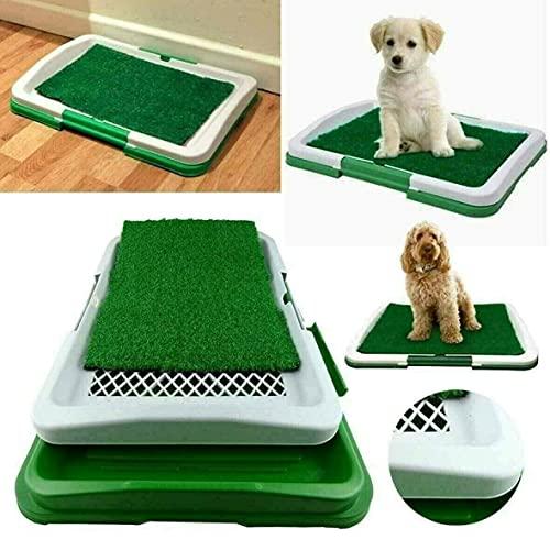 PLASTIFIC Animal Pet Dog Toilet Litter Mat Grass Potty Pad Puppy Restroom...