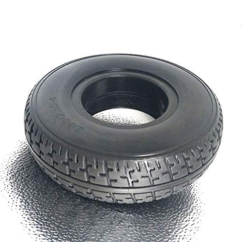 znwiem Battery Car Rubber Solid Tire 2.80/2.50-4 Mobility Scooter Electric Wheelchair Tyre Replacement Black