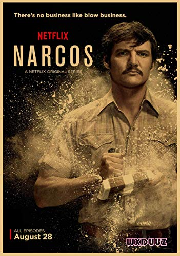xmydeshoop Historia Thriller Tráfico de Drogas TV Teatro Narcos Estilo Retro Papel Cartel Familiar Bar Café Pegatinas de Pared 50x70cm No Frame PQ-1192