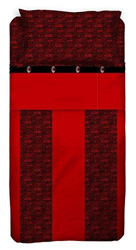 Milan Completo Letto, Cotone, Rosso/Nero, 180 x 295 cm/130 x 200 cm/52 x 80 cm