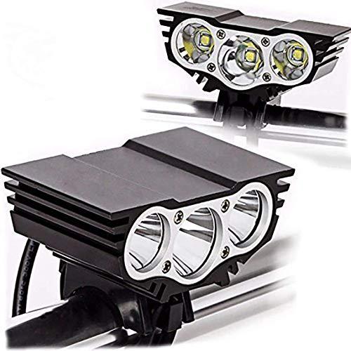 MUXIN LED Fahrradlicht Set, 8000 Lumen Fahrradbeleuchtung Wiederaufladbare wasserdichte Beleuchtung Mit Powerbank-Funktion,Fahrradbeleuchtung 4 Modi Für Mountainbike, Elektrofahrrad, E-Bike