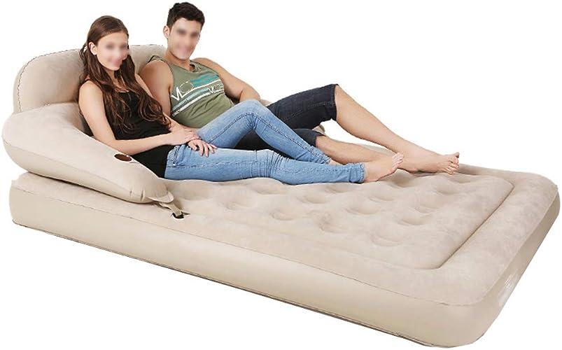 Matelas gonflables Sofa Taille Unique De Sofa d'air. Idéal pour L'intérieur Ou L'extérieur. Ce Lit d'air avec Les Accoudoirs Confortables Et Le Dossier Est Grand comme Camping Ou Lit D'invité