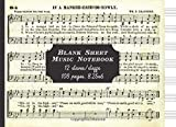 Blank Sheet Music Notebook: 12 staves/staffs: Cool Unique Vintage Cover: Great Fun Gift For Aspiring, Budding, Professional Adult/Kid Musicians, ... Singers & Artists (Vintage Blank Music Sheet)