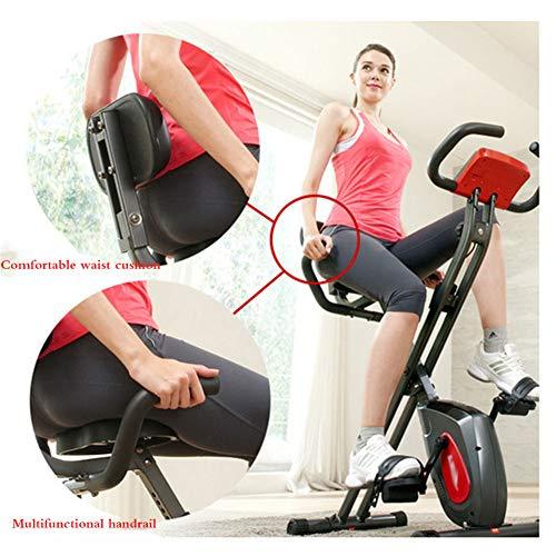 Lin Bicicleta estática Plegable Ajustable, Bicicleta estática Vertical muda, Bicicleta estática de Pedal para Bajar de Peso Oficina en casa