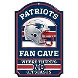 Wincraft NFL New England Patriots 05801010 Holzschild, 27,9 x 43,2 cm, schwarz