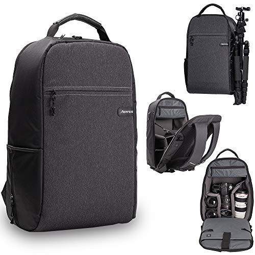 AERFEIS Lightweight Camera Backpack Made of Water Resistant Fabric, Anti-Theft DSLR...