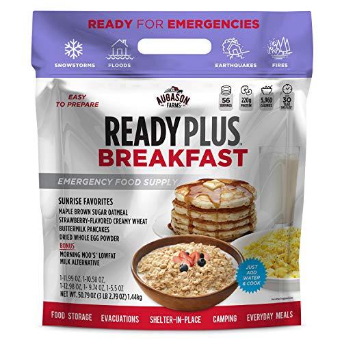 Augason Farms Ready Plus Breakfast Emergency Food Supply   25-Year Shelf Life