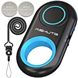 [Upgraded] Bluetooth Remote Shutter for iPhone & Android Camera Wireless Remote Control Selfie Button for iPad iPod Tablet, HD Selfie Clicker for Photos & Videos (Blue)