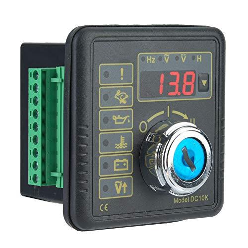 Panel de Control del generador, a Prueba de Agua 3.1 X 3.1 X 2.8in Controlador del generador Estable Manualmente Motor Arranque Manual Módulo de Control del generador para el hogar para el