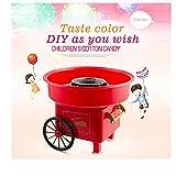 EnJoCho Mini máquina de algodón de azúcar para niños, máquina de algodón de moda para hacer caramelos, duro y sin azúcar, para encimera, clásico, perfecto para fiestas familiares Carrito rosa...