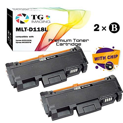 (2-Pack, Black) TG Imaging Compatible MLTD118L MLT-D118L D118L Toner Cartridge 118L Used for Samsung Xpress M3065FW M3015DW ML-1665 ML1865W Printer