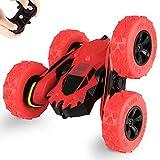 SZJJX Control Remoto Coche Camión 4WD RC Stunt Car 2.4Ghz Doble Cara Giratorio 360 ° Flips 7.5Mph Vehículos de Carreras, Niños Toy Cars Regalo para cumpleaños de niños y niñas (Batería no incluida)
