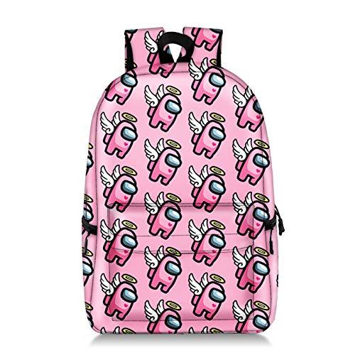 Jilijia Entre nosotros bolsa, juego caliente entre nosotros figura impresa mochila jóvenes adolescentes niños estudiantes escuela bolsa de bolsillo juego fans regalos